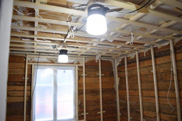 LED Work-Light 120V Blue Casing