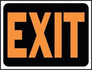 "Exit Sign 9"" x 12"""