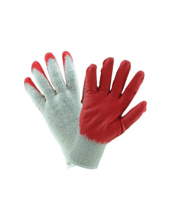 Red Dipped Coated Knit Work Gloves 12 Pair per Pack