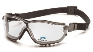 Pyramex V2G READERS +1.5 Magnification with Black Strap/Temples and H2X Anti-Fog Reader Lens