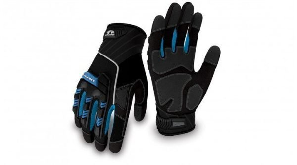 Pyramex Impact Gloves Heavy Duty GL201 Series Black with Blue & White Accents