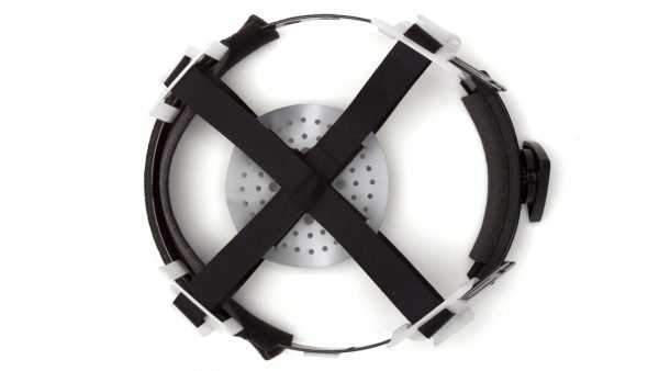 Pyramex White Full Brim Style 4-Point Ratchet Hard Hat