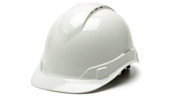 Pyramex RIDGELINE White Cap Style 4-Point Standard Ratchet Hard Hat