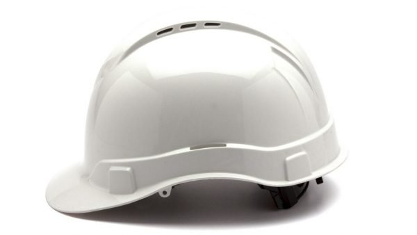 White Hard Hat with 4 Point Ratchet
