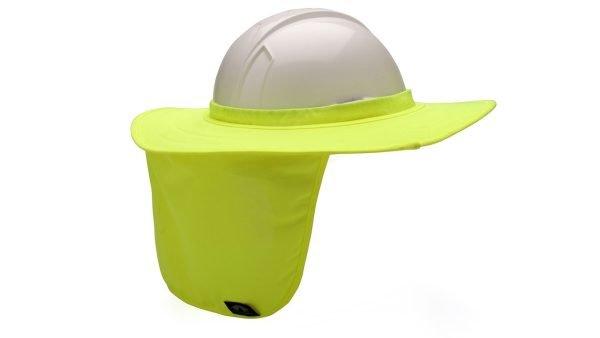 Pyramex Hard Hat Brim With Neck Shade Yellow