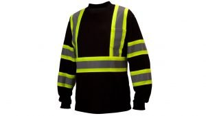 Pyramex Type O Class 1 X-Back Two-Tone Long Sleeve Safety Shirt Black