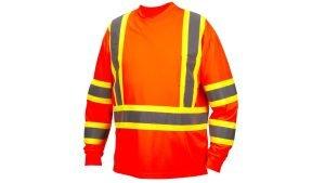 Pyramex Type R Class 3 X-Back Two-Tone Long Sleeve Safety Shirt Orange