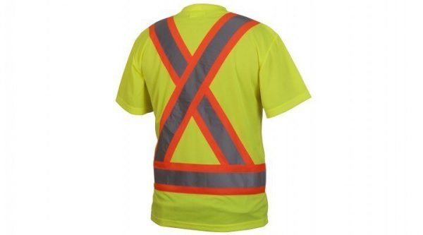 Pyramex Hi-Vis T-Shirt with Contrasting Reflective Tape RCTS2110 Series Lime