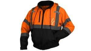 Pyramex Type R Class 3 Black Bottom Bomber Jacket Zip-Out Liner Orange