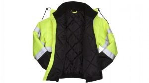 Pyramex Type R Class 3 Black Bottom Parka w/ Removable Fleece Liner Lime