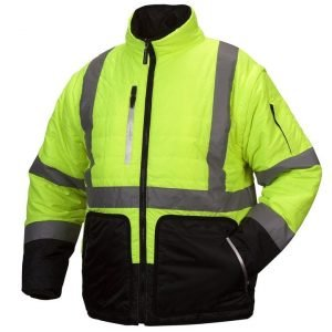Pyramex Type R Class 3 Black Bottom 4-in-1 Reversible Quilted Windbreaker Jacket Lime