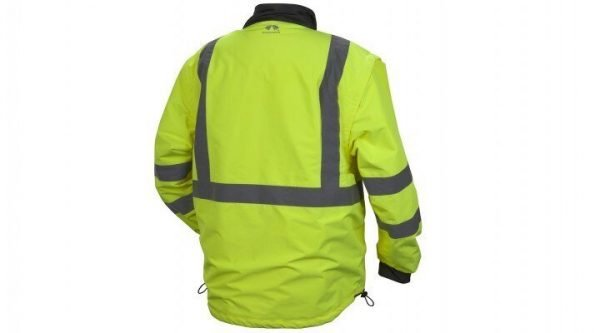 Pyramex Type R Class 3 4-in-1 Reversible Polyester Windbreaker Jacket Lime