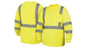Pyramex Type R Class 3 Long Sleeve Safety Shirt Lime