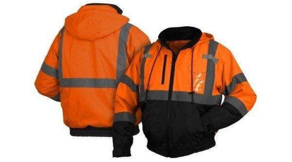 Pyramex Type R Class 3 Black Bottom Parka w/ Removable Fleece Liner Orange