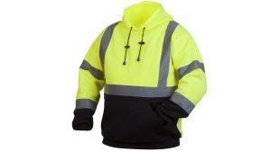 Pyramex Type R Class 3 Black Bottom Pullover Safety Sweatshirt Lime