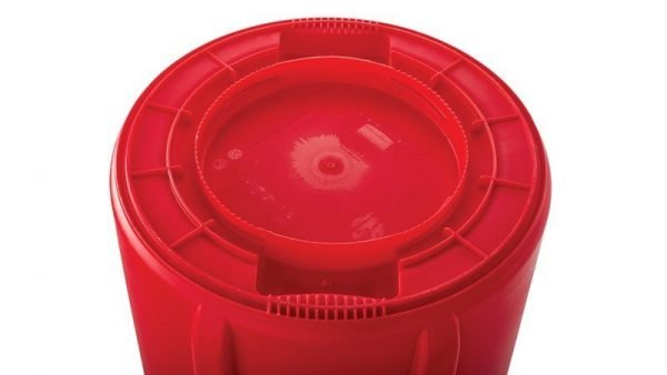 RUBBERMAID 32G RED BRUTE GARBAGE CAN