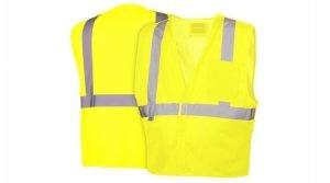 Pyramex Safety Vest RVHL25 Series Hi-Vis Lime