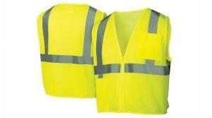 Pyramex Safety Vest RVZ21 Series Hi-Vis Lime