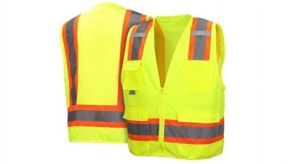 Pyramex Safety Vest RVZ2410 Series Hi-Vis Lime