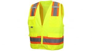 Pyramex Safety Vest RVZ2410 Series Hi-Vis Lime
