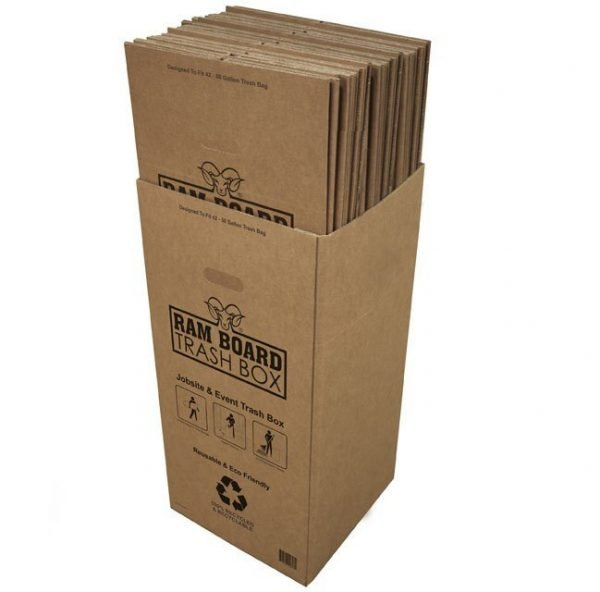 Ram Board Disposable Trash Box - Single