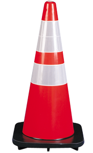 "Traffic Cone 28"" with Reflective Collars"