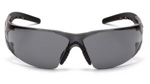 Pyramex Fyxate Safety Glasses with Black Frame and Gray Lens