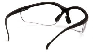 Pyramex VENTURE II READERS +1.5 Magnification with Black Frame and Clear Lens