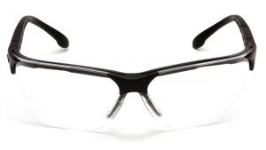 Pyramex RENDEZVOUS Safety Glasses with Black Frame and Clear Lens