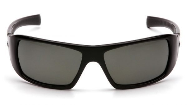 Pyramex Goliath Polarized Safety Glasses with Black Frame and Grey Lens
