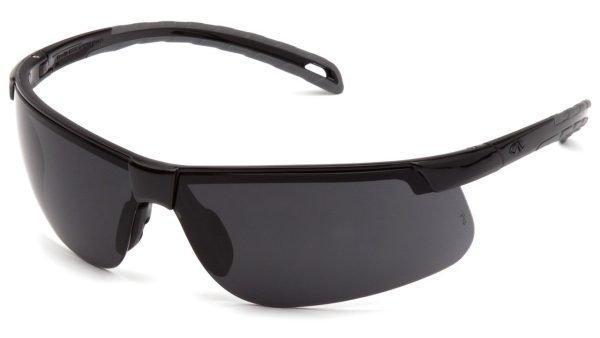 Pyramex EVER-LITE Safety Glasses with Black Frame and  Dark Gray Lens