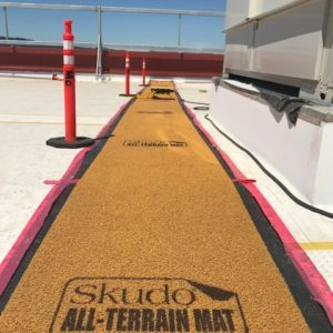 Skudo Safe Traffic Zone All-Terrain Mat Orange