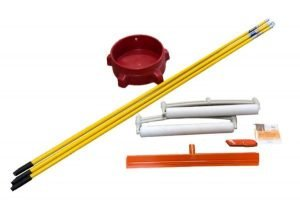 Skudo Commercial Mat Squeegee Install Pack w/Bucket Dolly