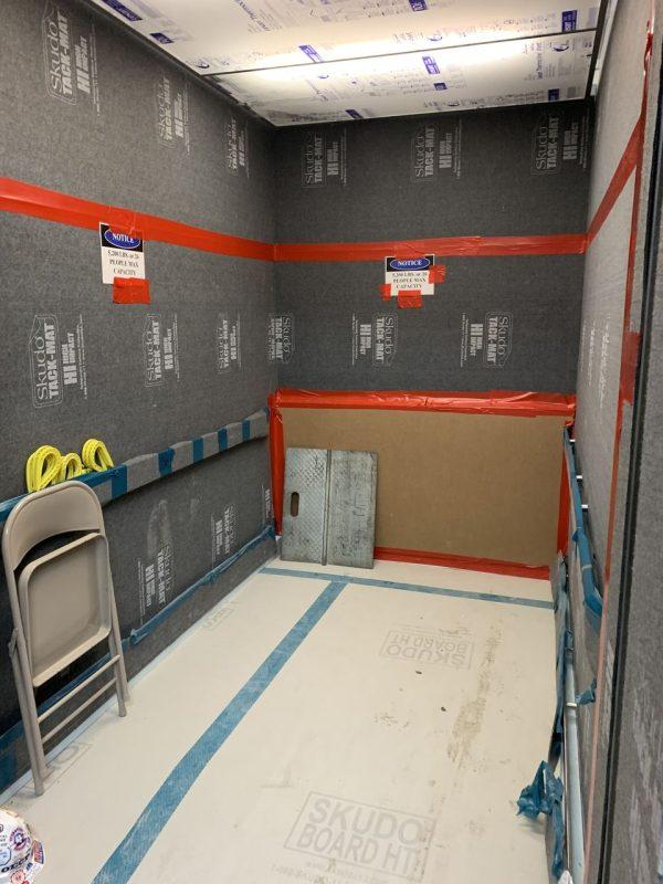 Skudo Skudoboard Rigid Protection Board HT Fire Retardant Fabric Back Grey 4' X 8'