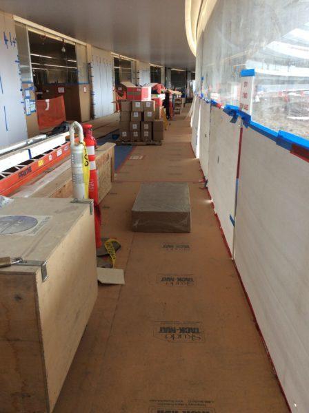 Skudo Temporary Surface Protection 3.3' X 165' Tack-Mat Heavy Traffic