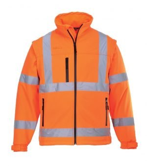 JSP Hi-Vis Softshell Jacket Orange