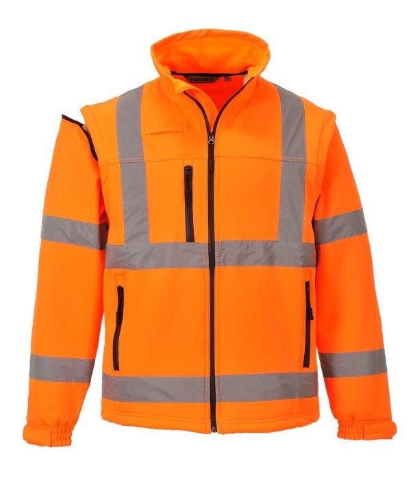 JSP Hi-Vis Softshell Jacket Orange