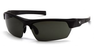 Pyramex TENSAW Polarized Safety Glasses with Black Frame and Black Lens