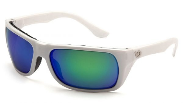 Pyramex Vallejo Polarized Safety Glasses White Frames and Blue Lens