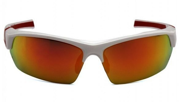 Pyramex Tensaw Polarized Safety Glasses with White Frame and Red Lens