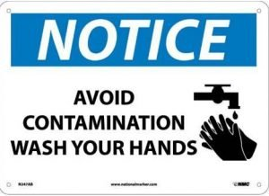 Wash Your Hands Plastic Sign 14x10