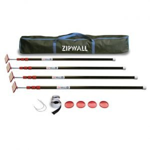 ZipWall ZipPole Kit with Carry Bag - 4 Pack - ZP4