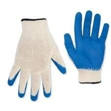 Blue Dipped Coated Knit Work Gloves 12 Pair per Pack