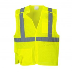 Economy Mesh Break-Away Vest Yellow
