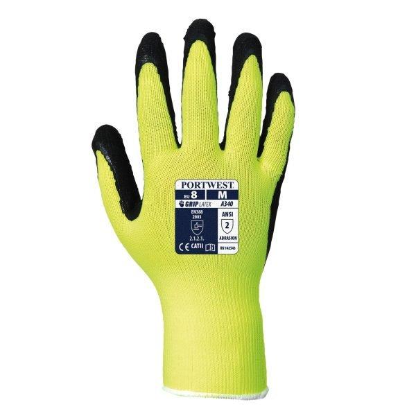 Hi-Vis Grip Glove Yellow