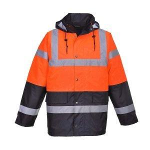 Twotone Traffic Jacket Orange / Black