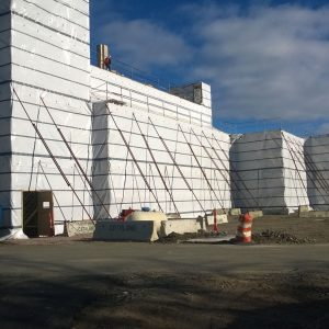 Strong Man 6 mil. 10 ft. x 100 ft.  Woven Reinforced Scaffold Wrap