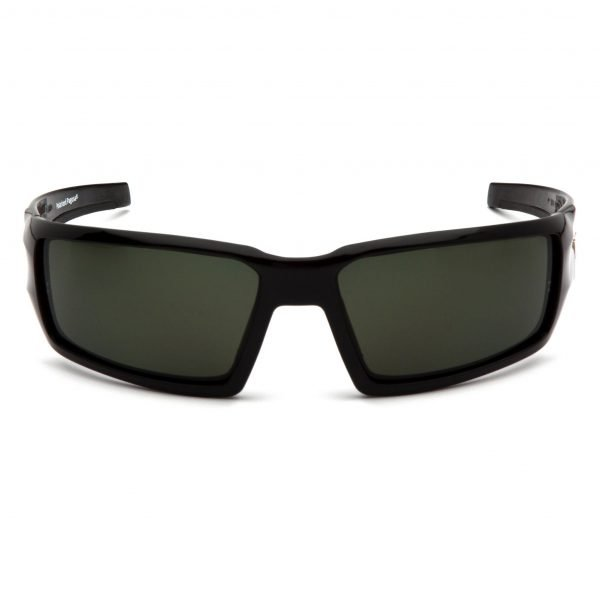 Pyramex PAGOSA Polarized Safety Glasses with Black Frame and Grey Lens