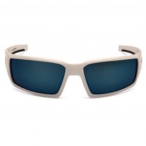 Pyramex PAGOSA Polarized Safety Glasses with White Frame and Ice Blue Lens