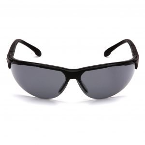 Pyramex RENDEZVOUS Safety Glasses with Black Frame and Gray Lens